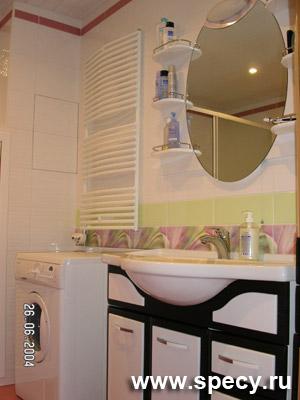 Сантех. шкаф в ванной комнате закрыт